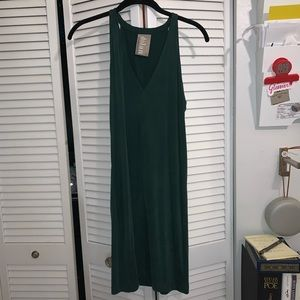 Anthropologie Green Slip dress